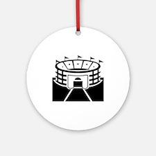 Black Stadium Round Ornament