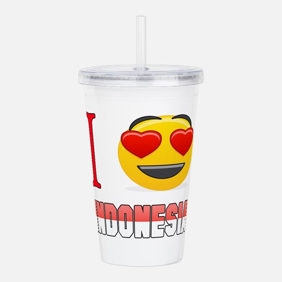 I love Indonesia Acrylic Double-wall Tumbler