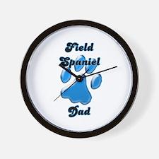 Field Spaniel Dad3 Wall Clock