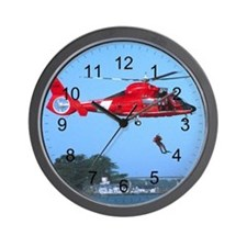 Coast Guard Chopper Wall Clock