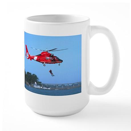 Coast Guard Chopper Large Mug