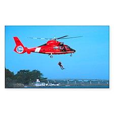 Coast Guard Chopper Rectangle Decal