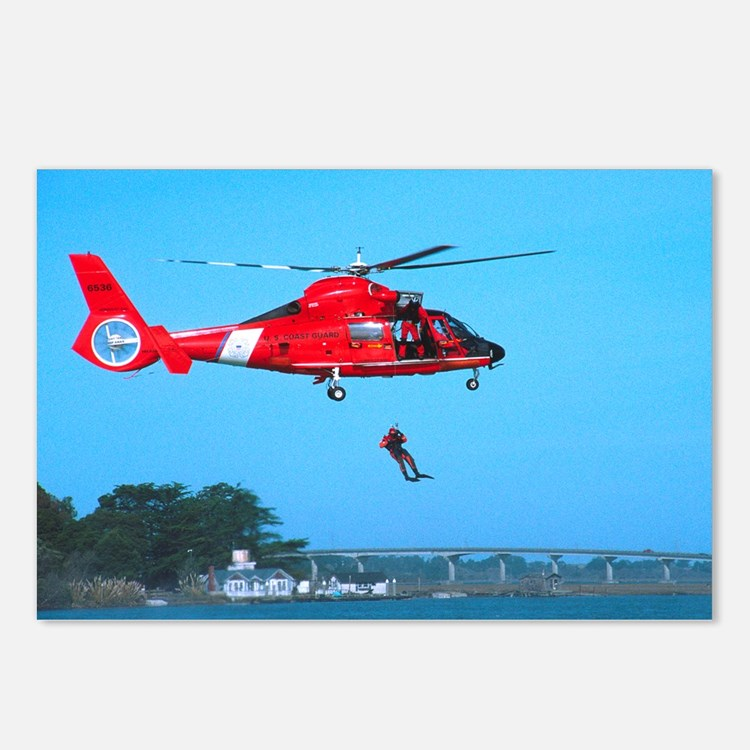 Coast Guard Chopper Postcards (Package of 8)