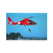 Coast Guard Chopper Rectangle Magnet (10 pack)