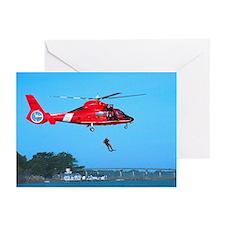 Coast Guard Chopper Greeting Cards (Pk of 20)