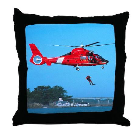 Coast Guard Chopper Throw Pillow