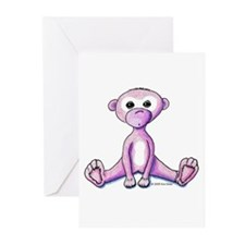 Pink Monkey Greeting Cards (Pk of 10)