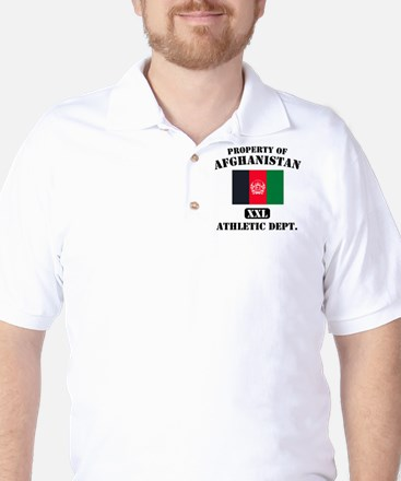 Property of Afghanistan Athle Golf Shirt