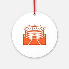 Orange Stadium Round Ornament
