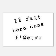 Il fait beau dans l'metro Postcards (Package of 8)