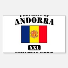 Property of Andora Athletic D Sticker (Rectangular