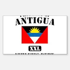 Property of Antigua Athletic Sticker (Rectangular