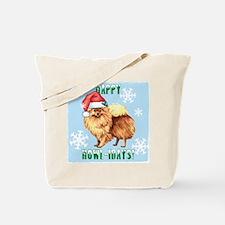 Holiday Pomeranian Tote Bag