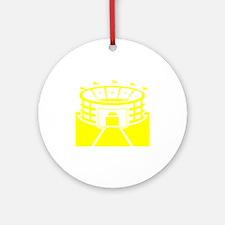 Yellow Stadium Round Ornament