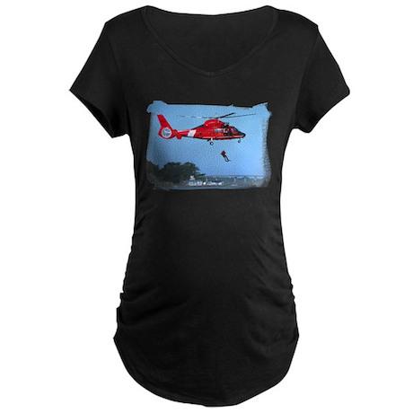 Coast Guard Chopper Maternity Dark T-Shirt