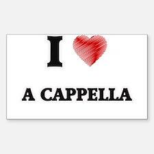 I Love A Cappella Decal