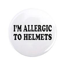 """Helmet Allergy 3.5"""" Button"""
