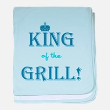 KING of the GRILL! baby blanket
