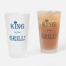 KING of the GRILL! Drinking Glass