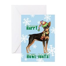 Holiday Min Pin Greeting Card