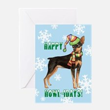 Holiday Min Pin Greeting Card