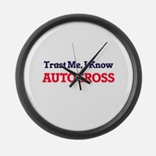 Trust Me, I know Autocross Large Wall Clock