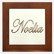 Cute Noelia Framed Tile