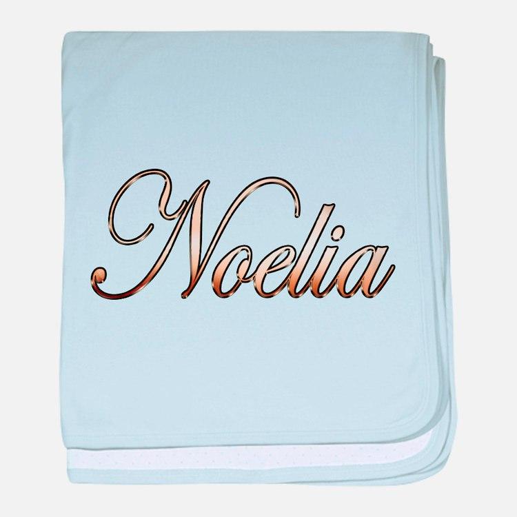 Gold Noelia baby blanket