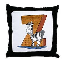Kids Monogram Z Throw Pillow