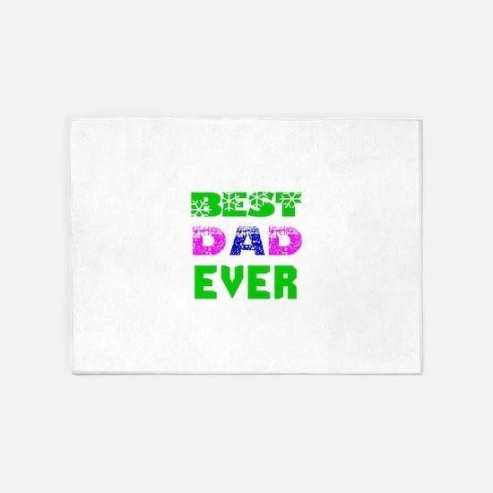 Best Dad Ever Designs 5'x7'Area Rug