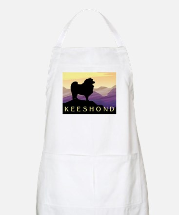 Keeshond Purple Mountain BBQ Apron