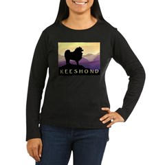 Keeshond Purple Mountain T-Shirt