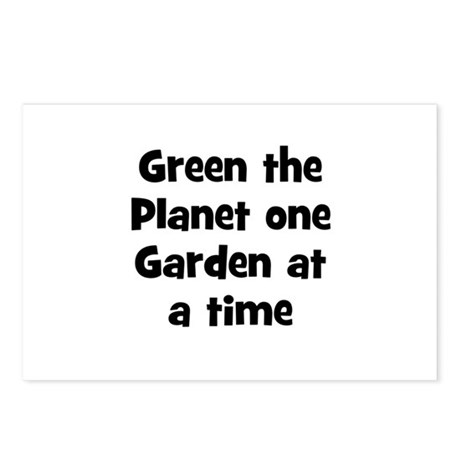 Green the Planet one Garden a Postcards (Package o