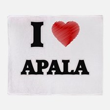 I Love Apala Throw Blanket
