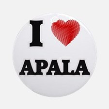 I Love Apala Round Ornament