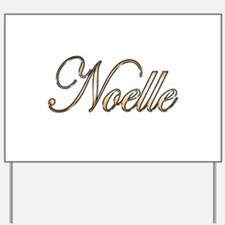 Gold Noelle Yard Sign