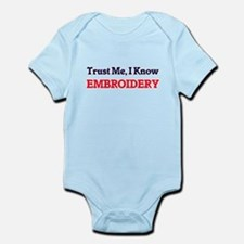 Trust Me, I know Embroidery Body Suit