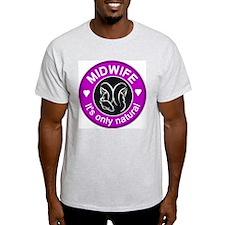 Midwives ~ caring Ash Grey T-Shirt