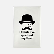 Funny Mustache and monocle Rectangle Magnet