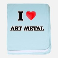 I Love Art Metal baby blanket