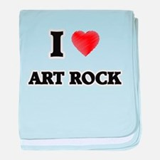 I Love Art Rock baby blanket