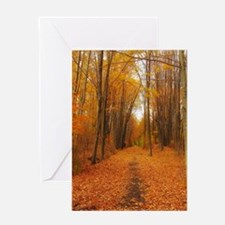 autumn trail Greeting Cards
