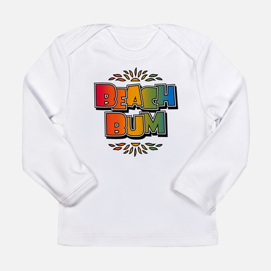 Beach Bum Retro Rainbow Infant Long Sleeve T-Shirt