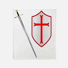 Unique Templar cross Throw Blanket