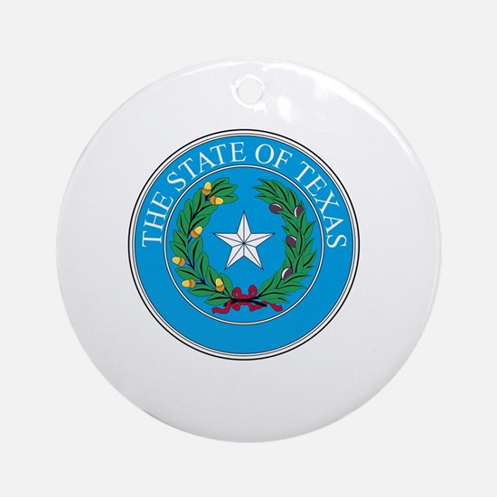 Unique Lone star Round Ornament