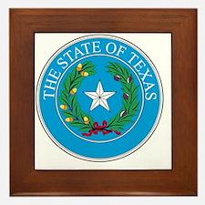 Unique Lone star state Framed Tile