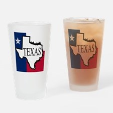 Unique Texas flag outline Drinking Glass