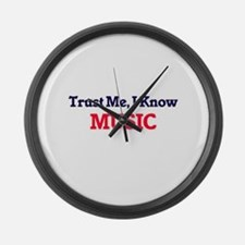 Trust Me, I know Music Large Wall Clock