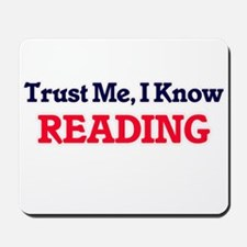 Trust Me, I know Reading Mousepad