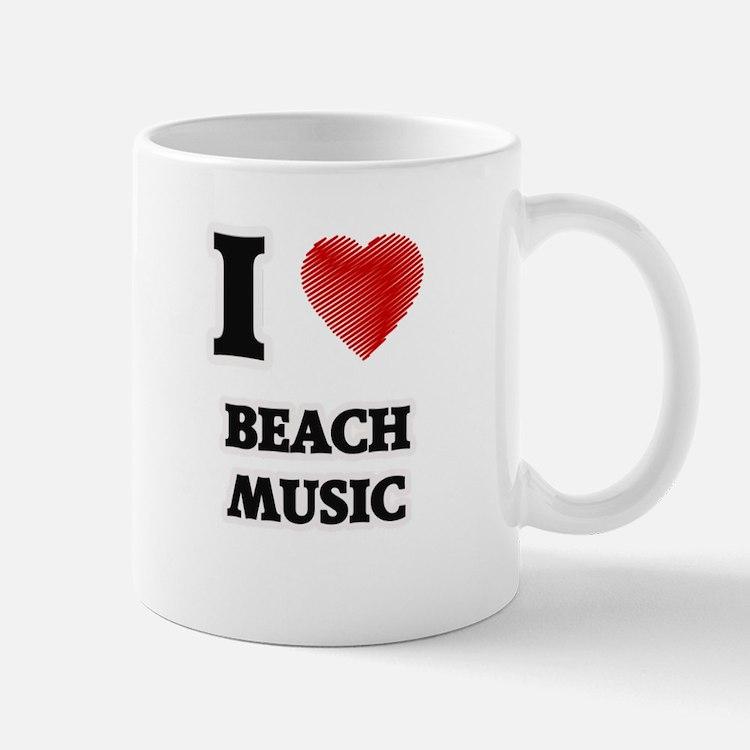 I Love Beach Music Mugs